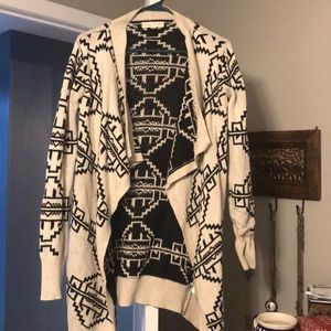 Urban Outfitters-Aztec patterned open cardigan
